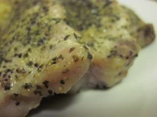 herb-rubbed porkchops