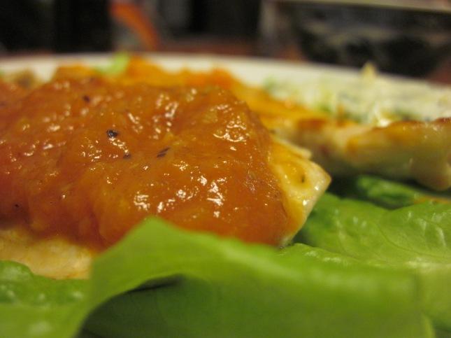 this ain't no bland tomato sauce.  it's marsala tomato sauce.
