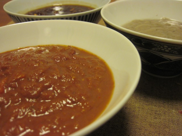 the last three sauces of the week.